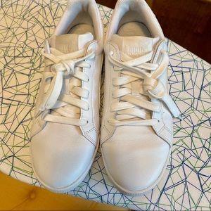 EUC Puma Leather Sneaker Shoes -  Size 8